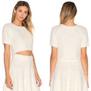 NWT Lovers + Friends Be Flirty Crop Top in Ivory